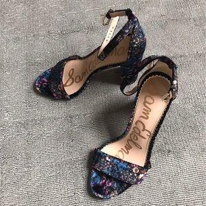 Sam Edelman floral velvet Yaro heels